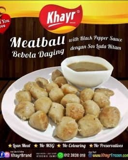 ꙳ Meatball with Black Pepper Sauce